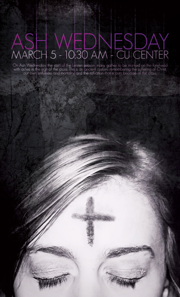 Brandon Charnell Ash Wednesday Poster