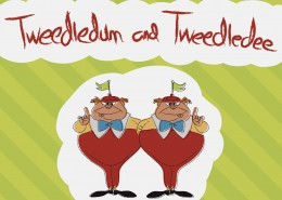Tweedledum and Tweedledee Children's Book Design Front Cover