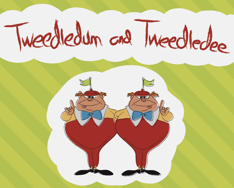 Tweedledum and Tweedledee Children's Book Design Front Cover