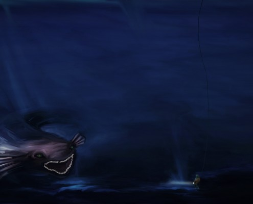 Digital Painting of The Deep Sea
