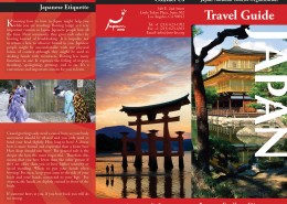 Japan Travel Brochure Outside Spread