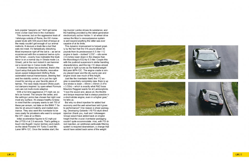 Lamborghini Magazine Design Spread 2