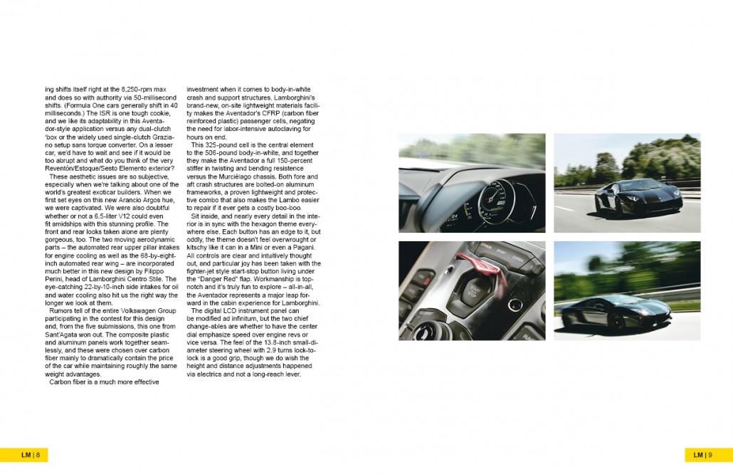 Lamborghini Magazine Design Spread 3