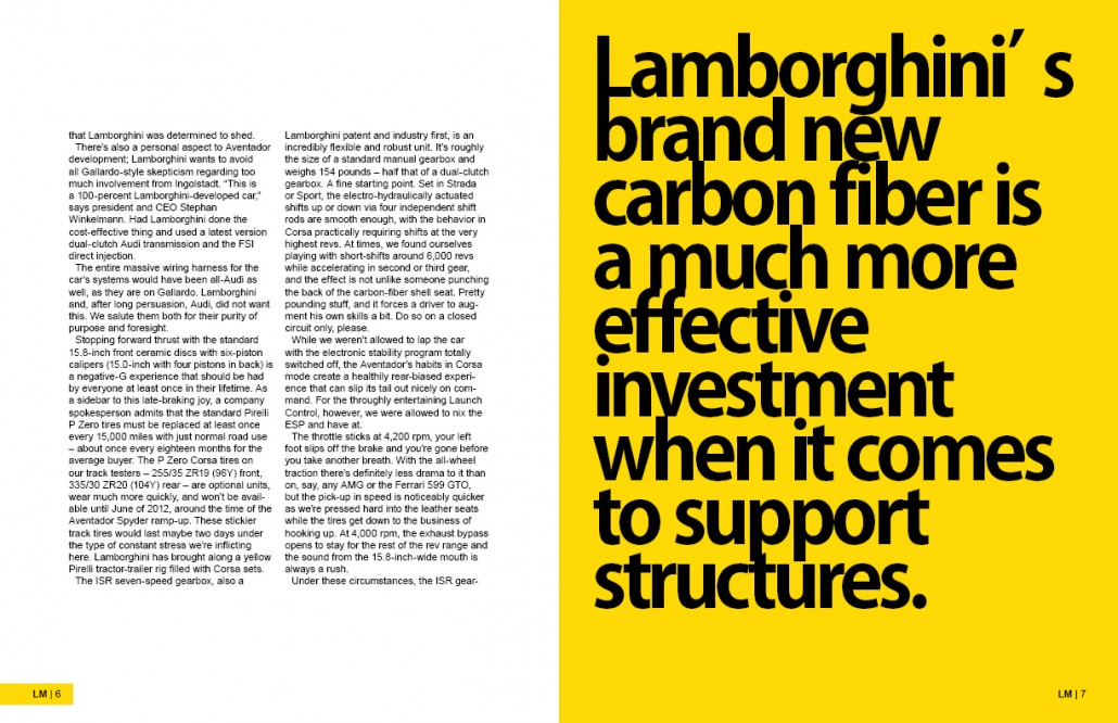 Lamborghini Magazine Design Spread 4