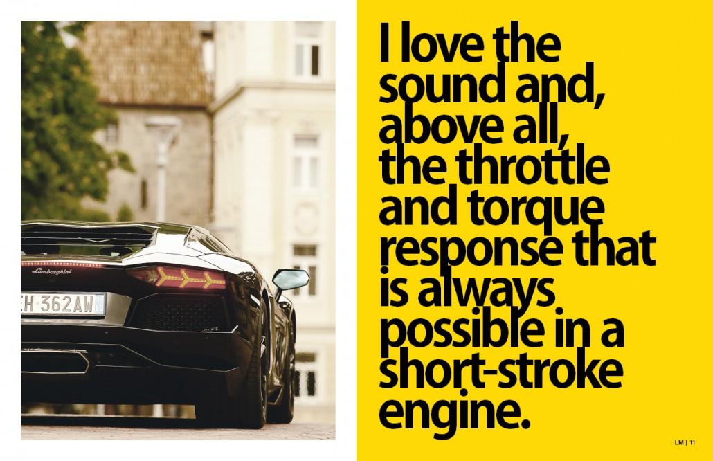 Lamborghini Magazine Design Spread 5
