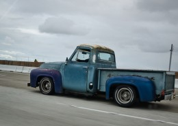 Vintage Truck in Motion Photo
