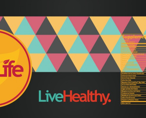 Yellow VitaLife Label Design