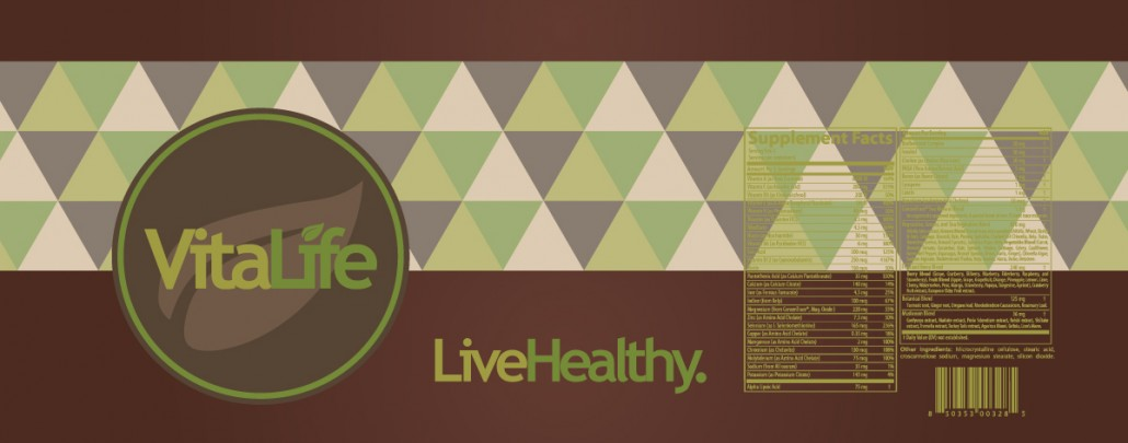Green VitaLife Label Design