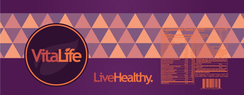 Purple VitaLife Label Design